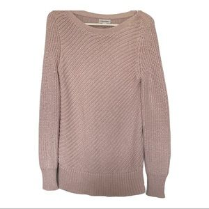 Calvin Klein knit boat neck sweater pink small